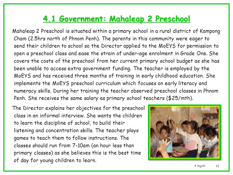 4.1 Government: Mahaleap 2 Preschool