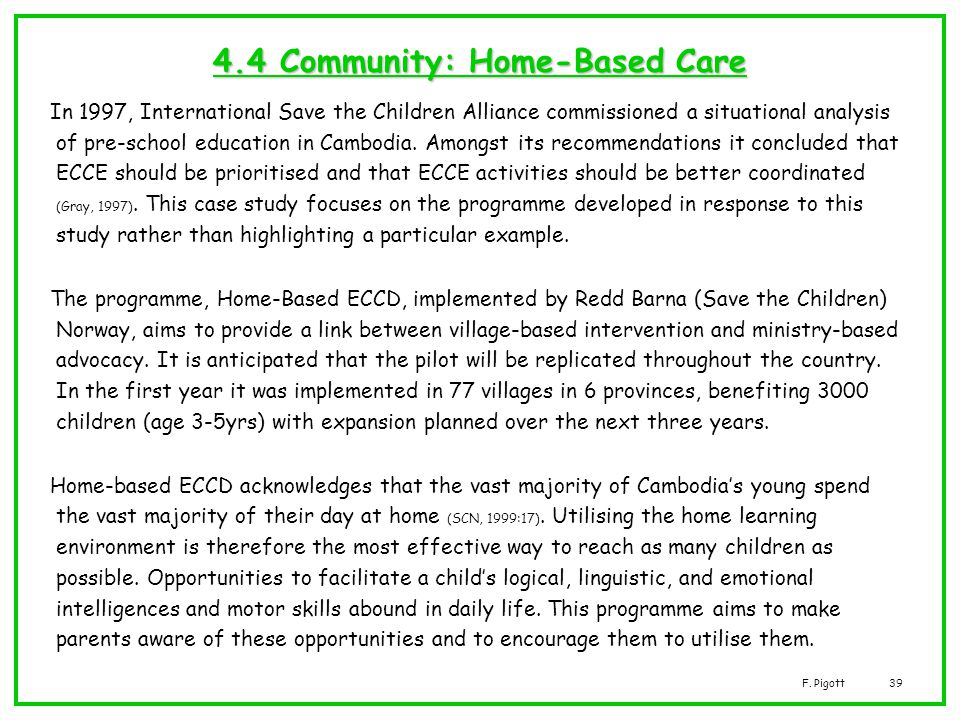 4.4 Community: Home-Based Care