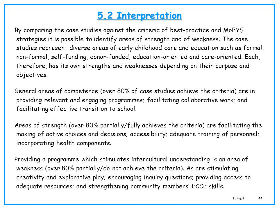 5.2 Interpretation