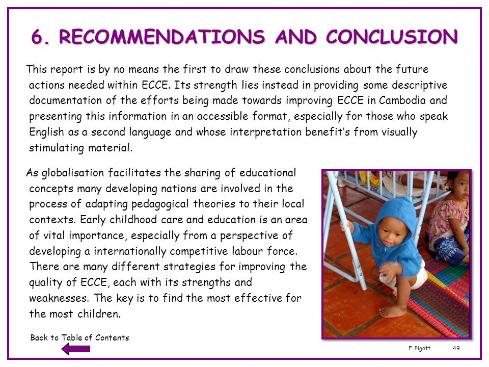 6. RECOMMENDATIONS AND CONCLUSION