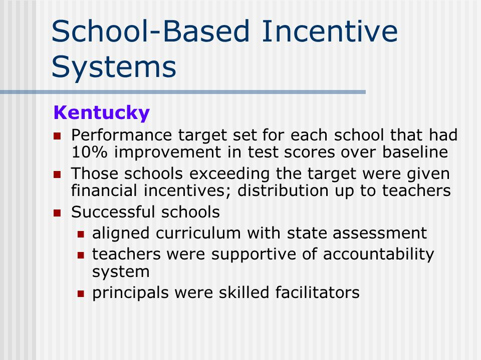 School-Based Incentive Systems