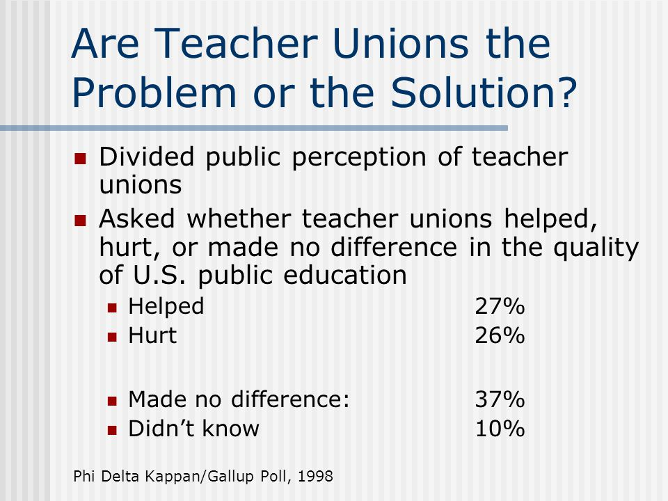 Are Teacher Unions the Problem or the Solution