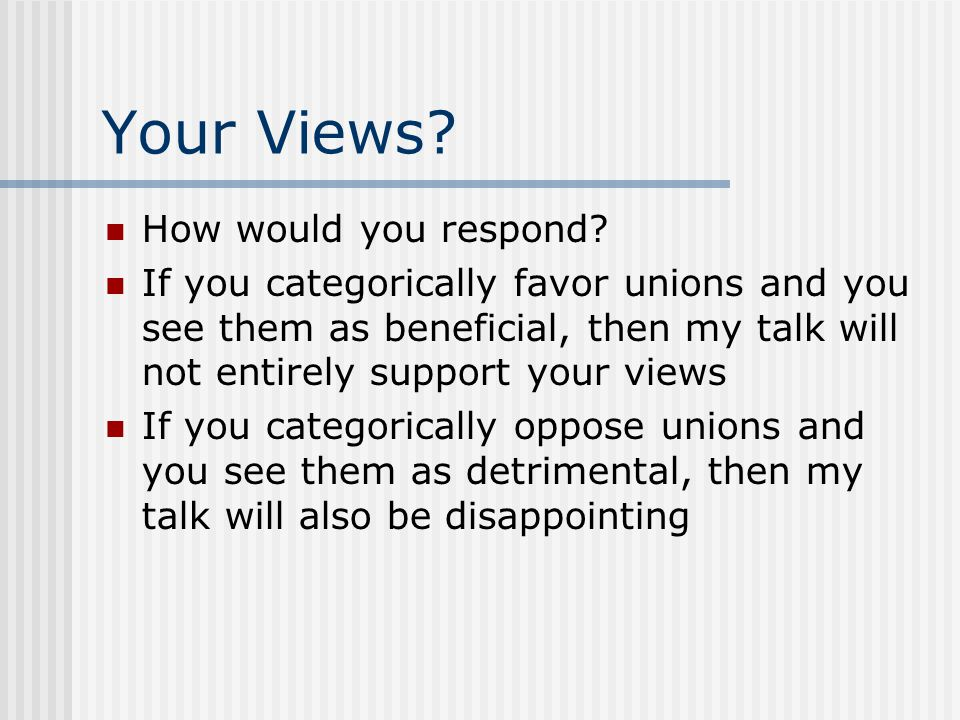 Your Views How would you respond