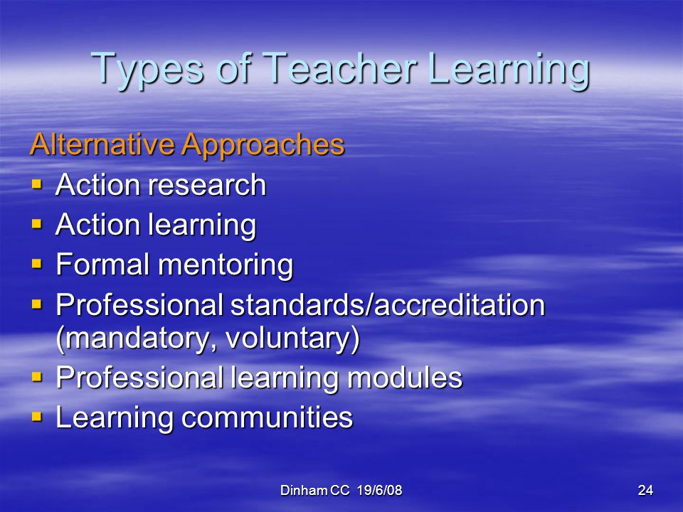 Types of Teacher Learning