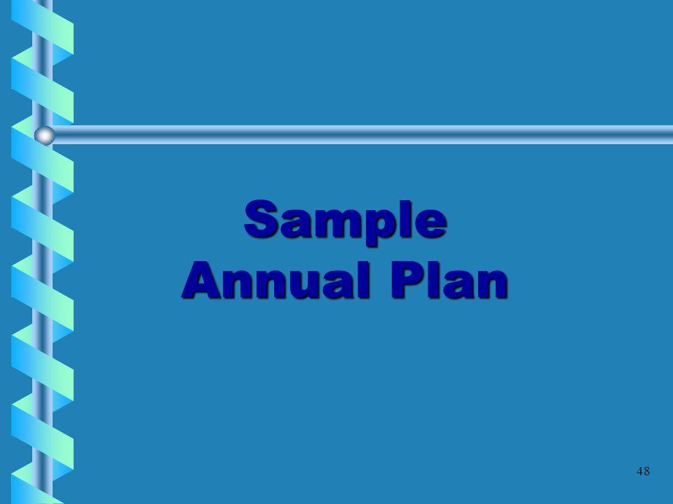 Sample Annual Plan