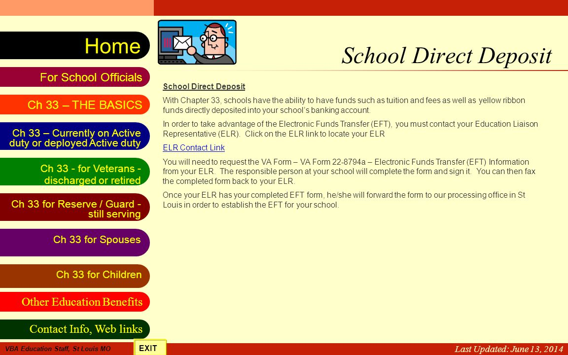 School Direct Deposit Last Updated: April 2, 2017