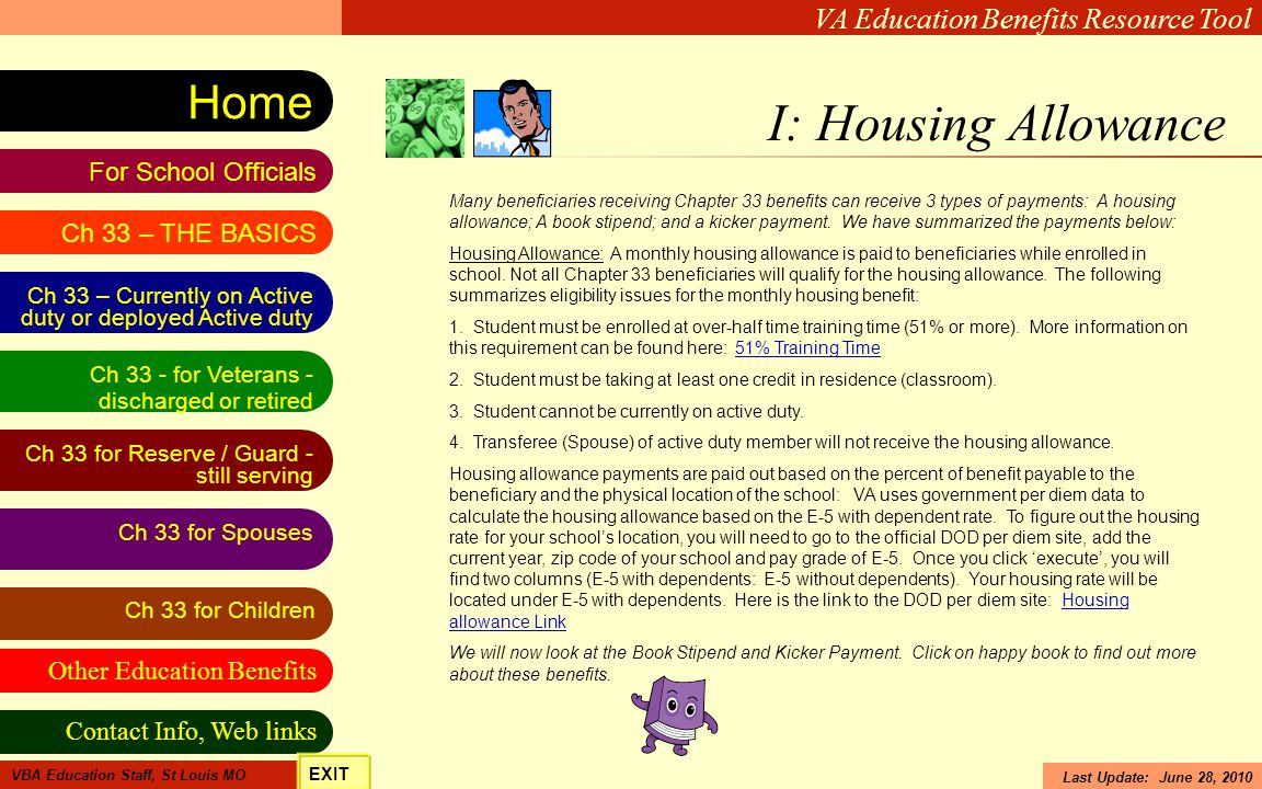 I: Housing Allowance