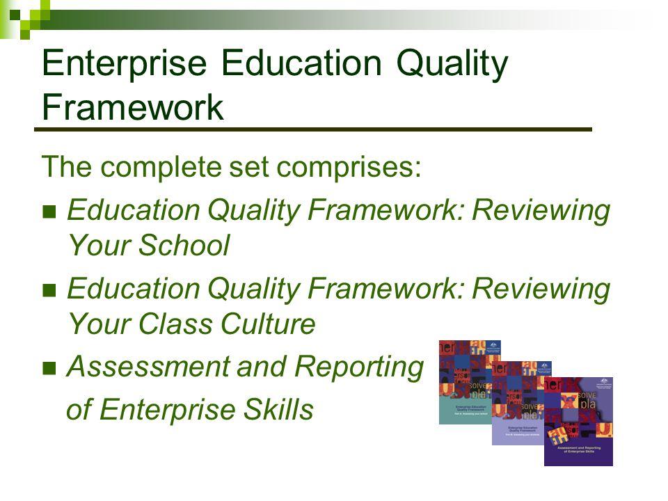 Enterprise Education Quality Framework