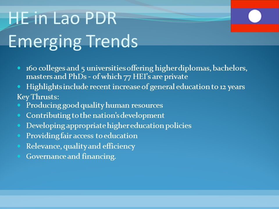 HE in Lao PDR Emerging Trends