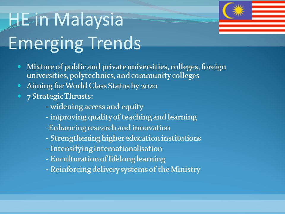 HE in Malaysia Emerging Trends