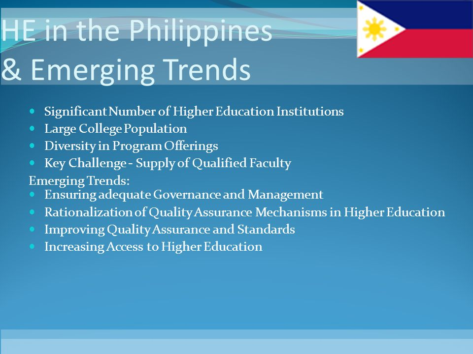 HE in the Philippines & Emerging Trends
