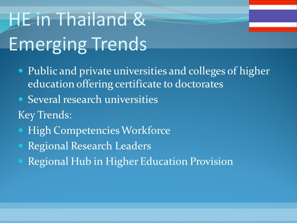 HE in Thailand & Emerging Trends