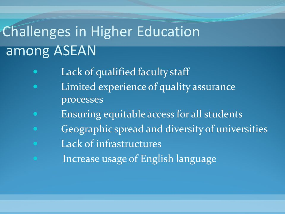 Challenges in Higher Education among ASEAN