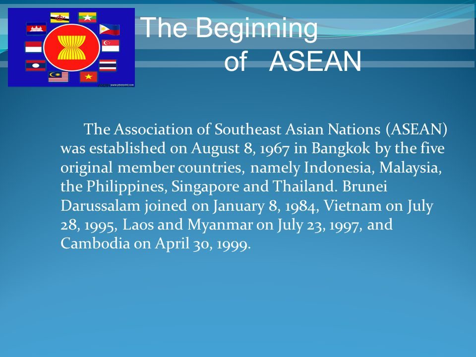 The Beginning of ASEAN.
