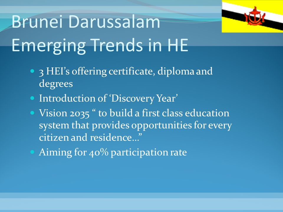 Brunei Darussalam Emerging Trends in HE