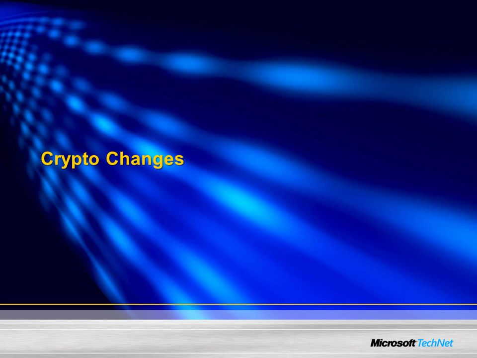 Crypto Changes
