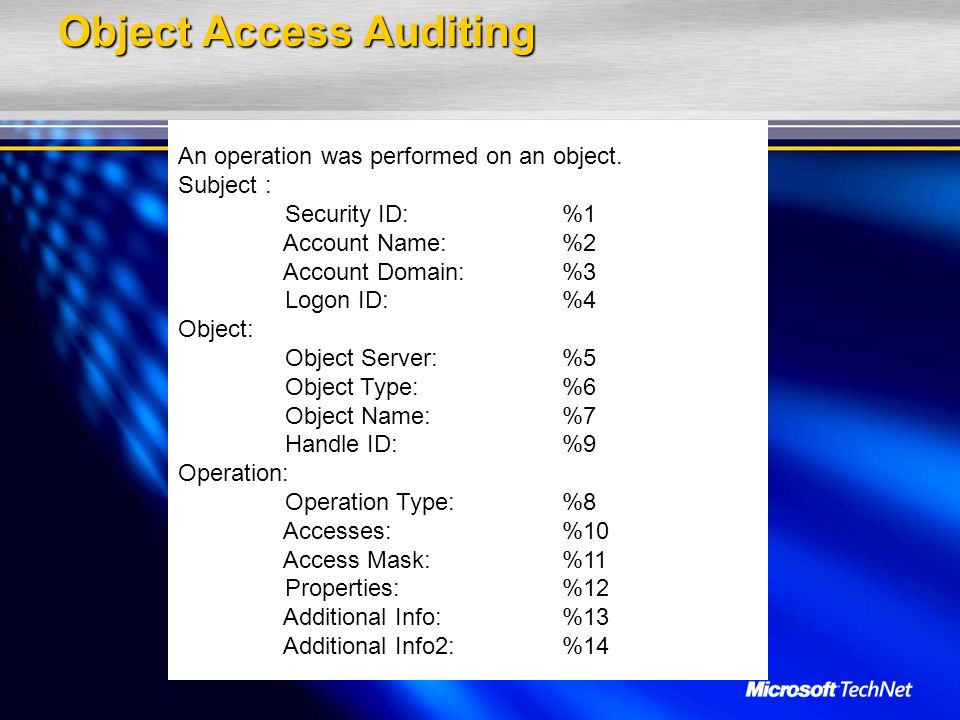 Object Access Auditing