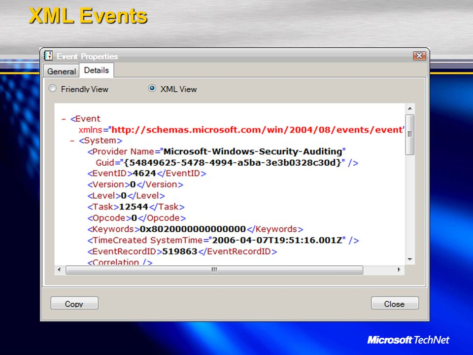 XML Events