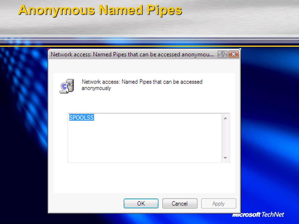 Anonymous Named Pipes
