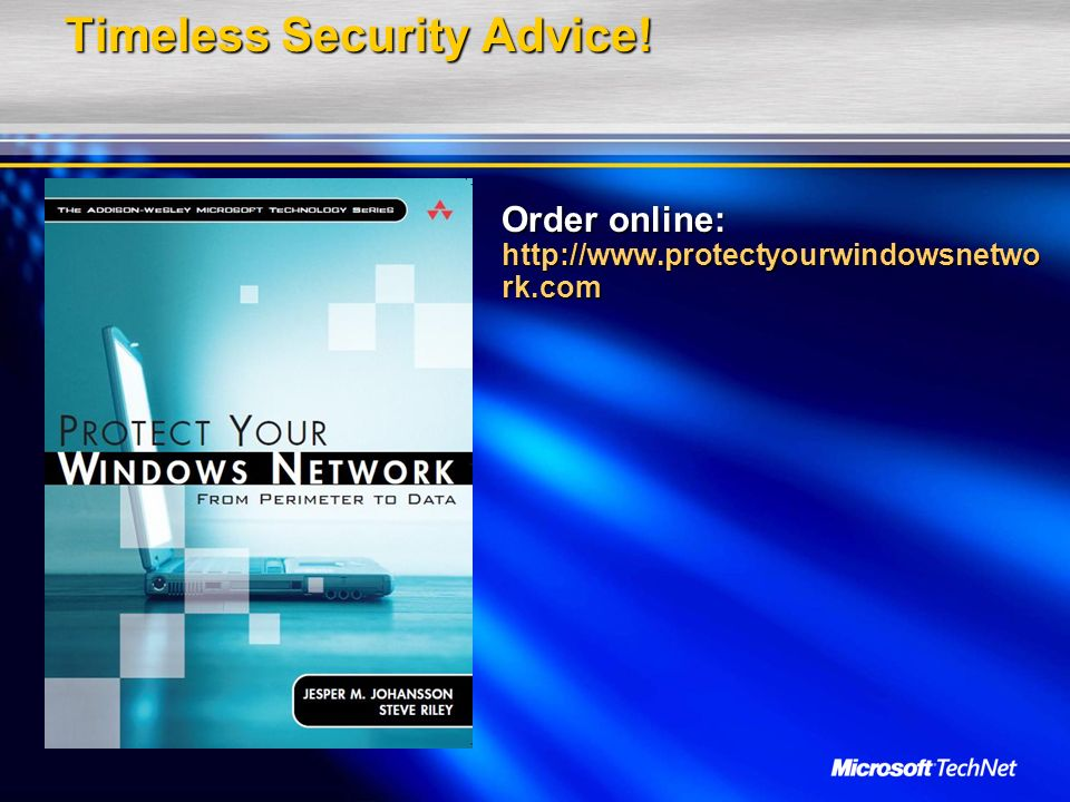 Timeless Security Advice!