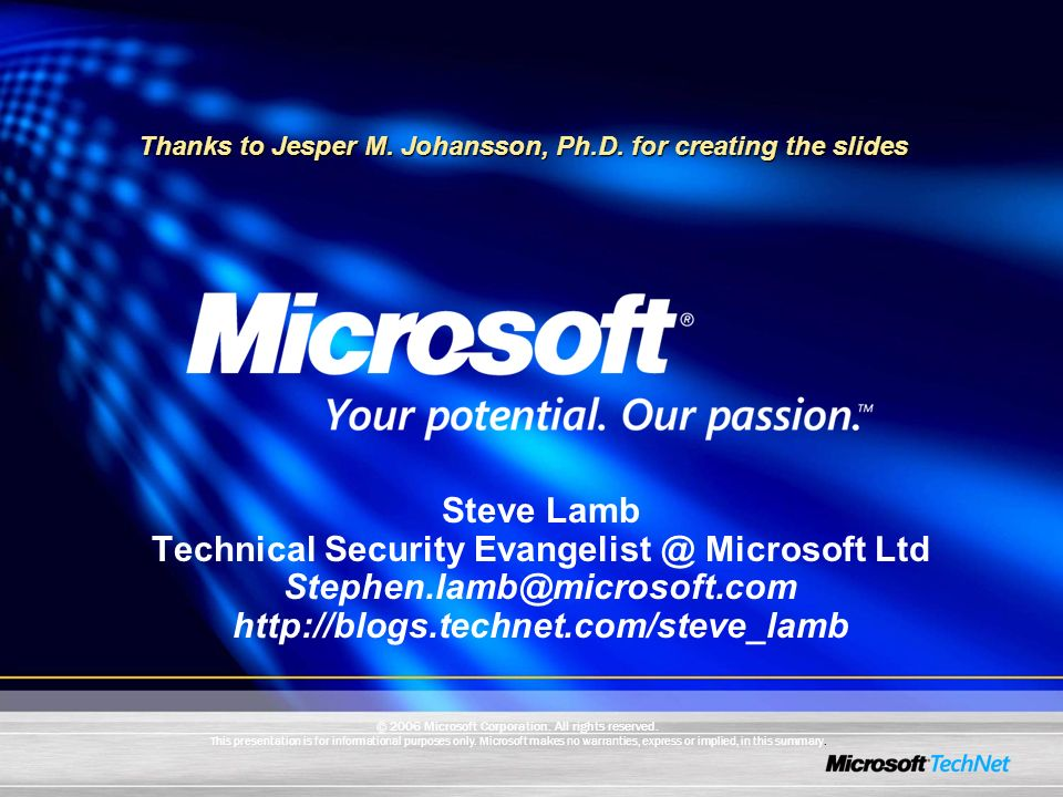 Technical Security Evangelist @ Microsoft Ltd