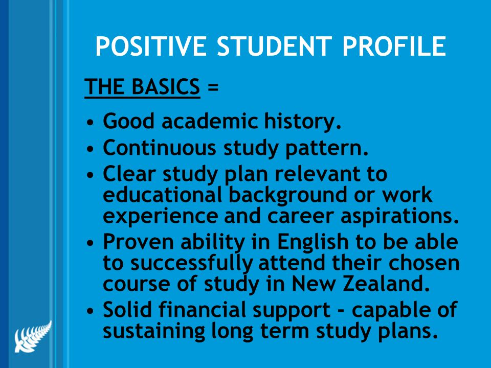 POSITIVE STUDENT PROFILE