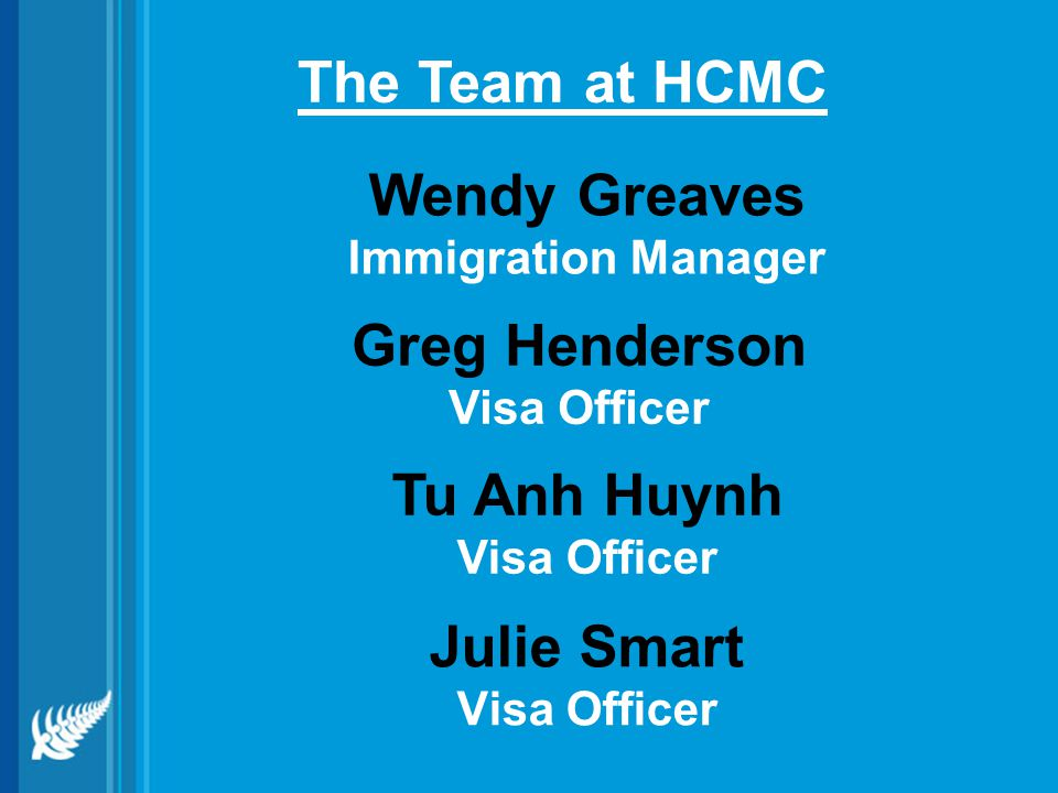 Julie Smart Visa Officer