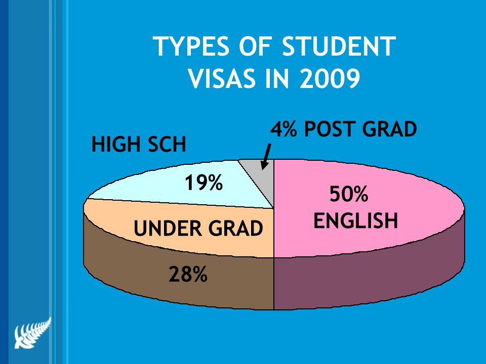 TYPES OF STUDENT VISAS IN 2009
