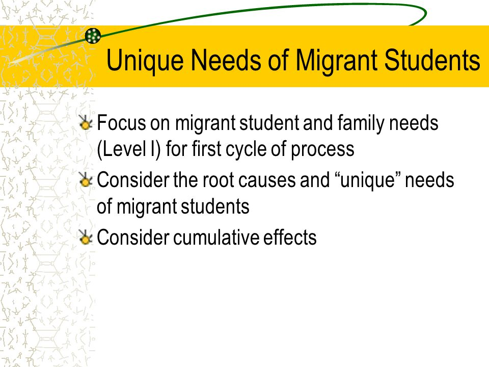 Unique Needs of Migrant Students
