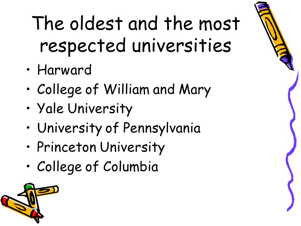 The oldest and the most respected universities