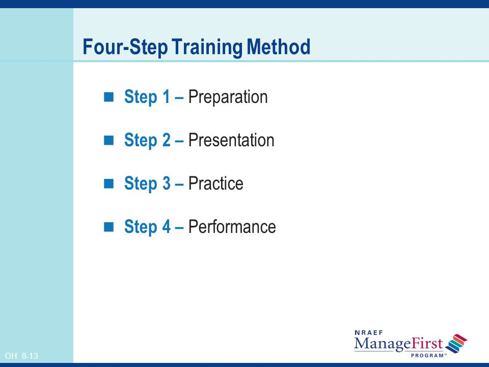 Four-Step Training Method