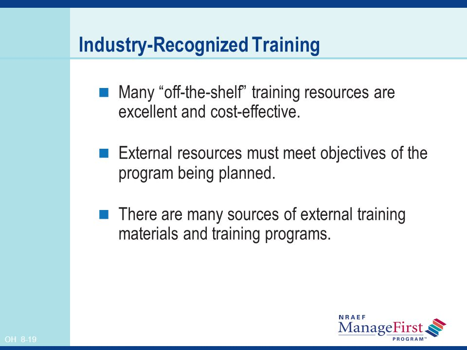Industry-Recognized Training
