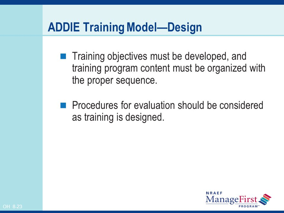 ADDIE Training Model—Design