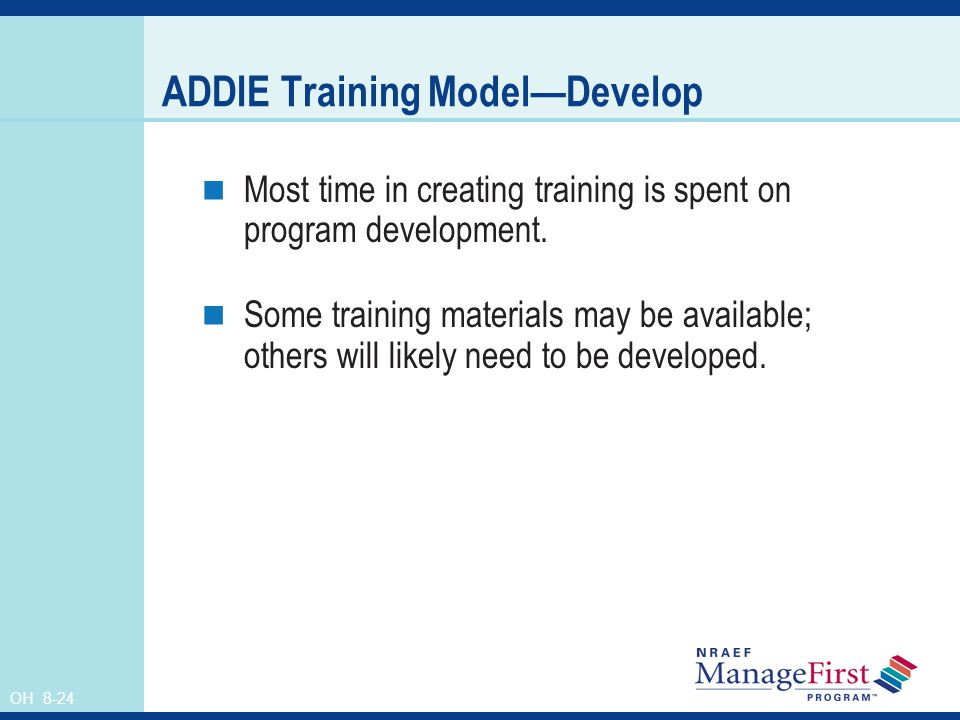 ADDIE Training Model—Develop