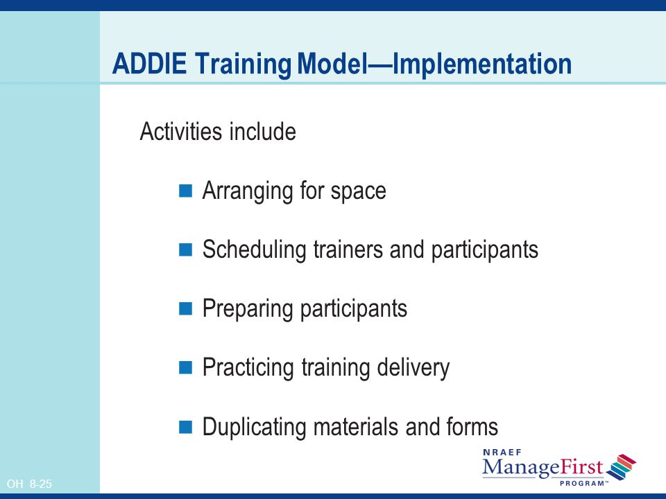 ADDIE Training Model—Implementation