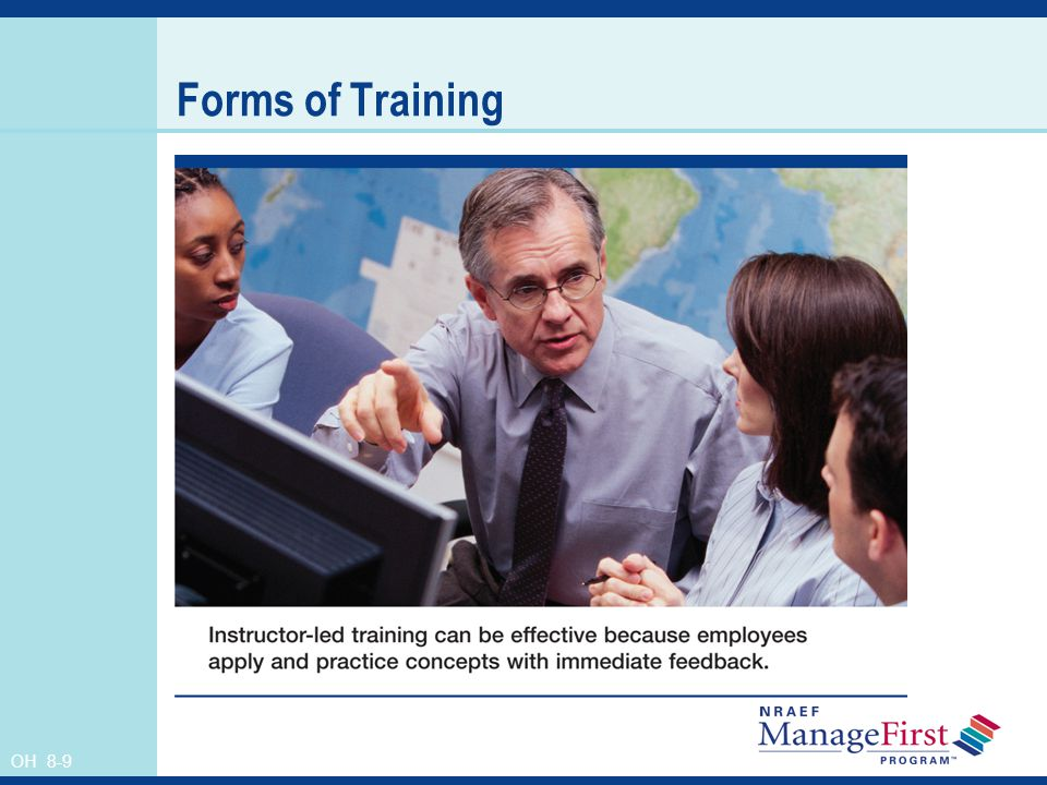 Forms of Training Instructor's Notes