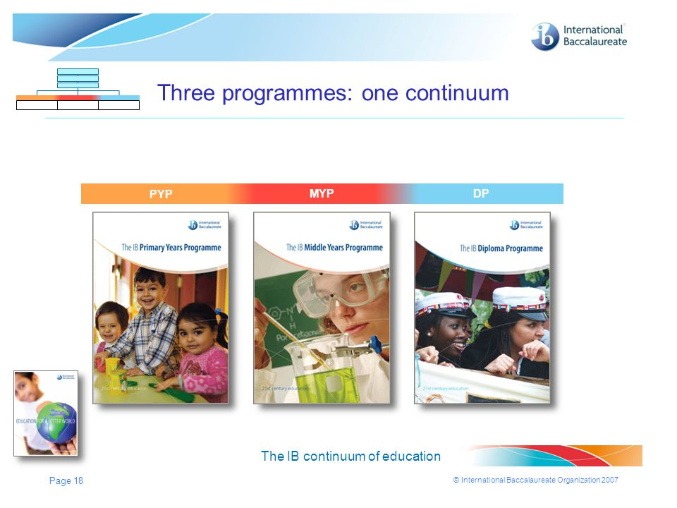 Three programmes: one continuum