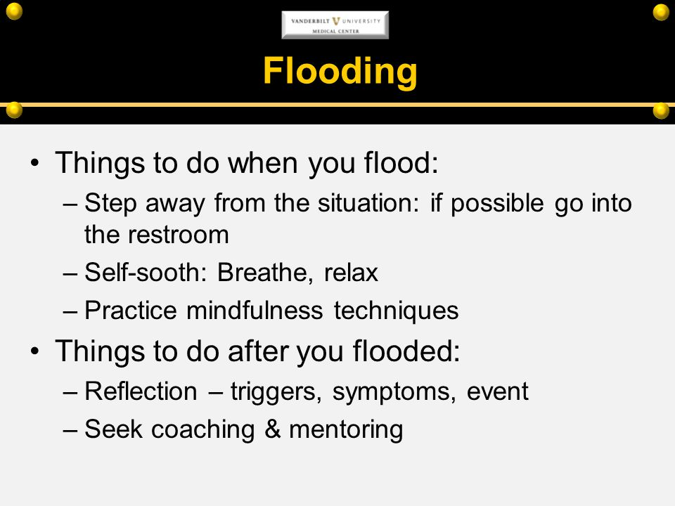 Flooding Things to do when you flood: Things to do after you flooded: