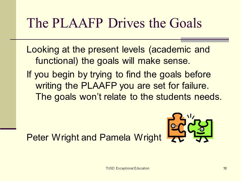 The PLAAFP Drives the Goals