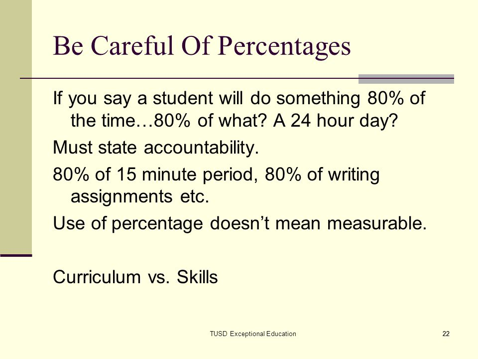 Be Careful Of Percentages