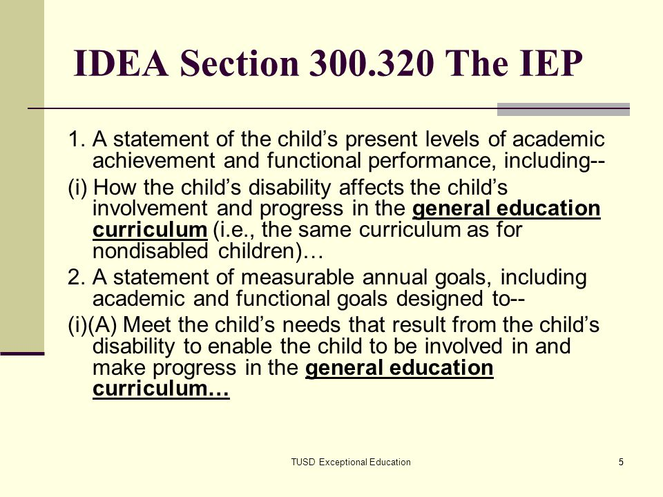 TUSD Exceptional Education