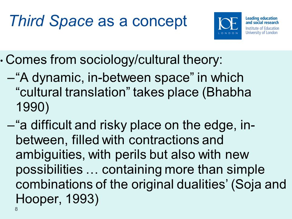 Third Space as a concept