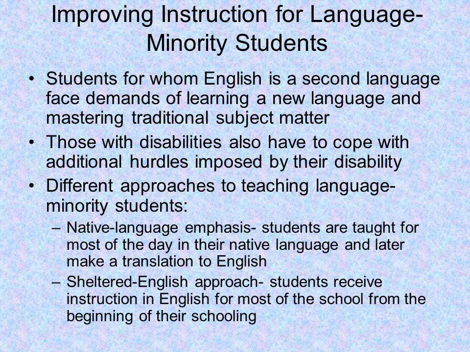 Improving Instruction for Language-Minority Students
