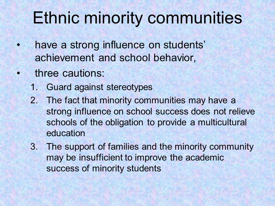 Ethnic minority communities
