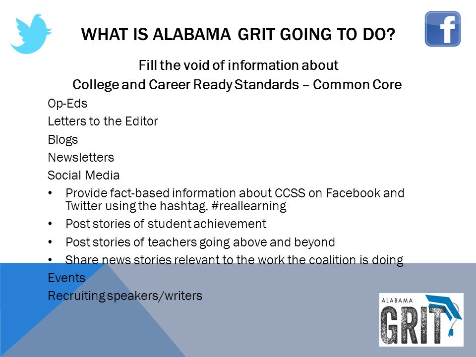 What is alabama Grit going to do