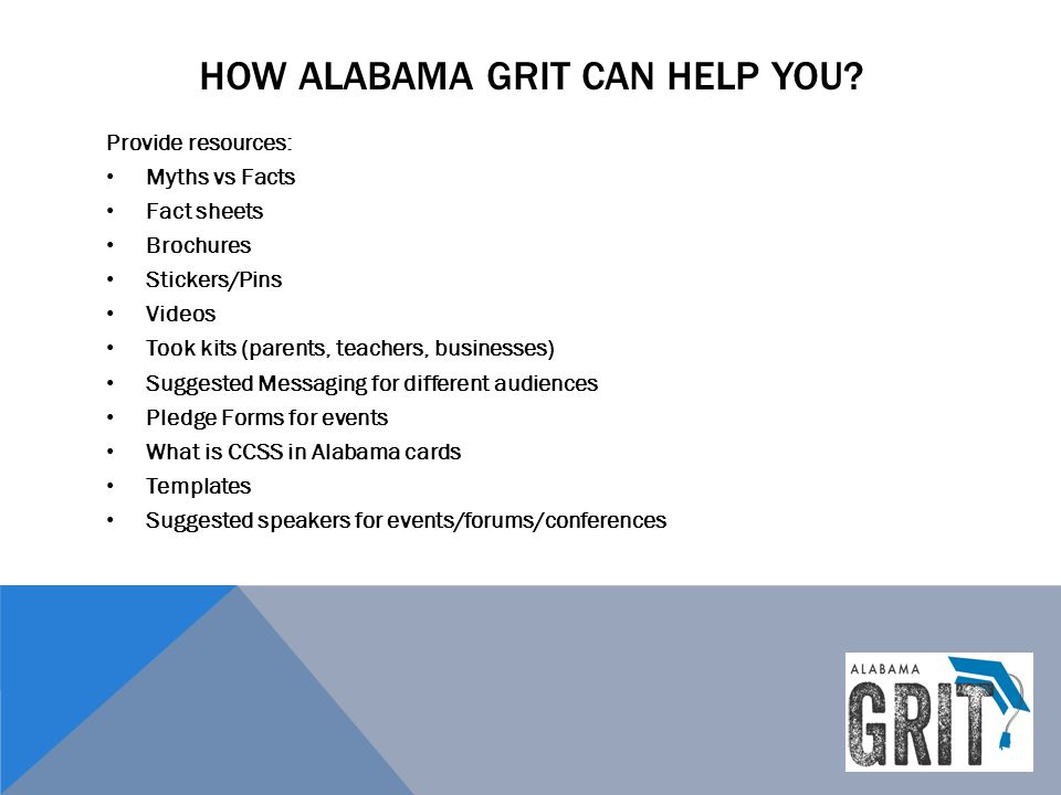 How alabama grit can help you