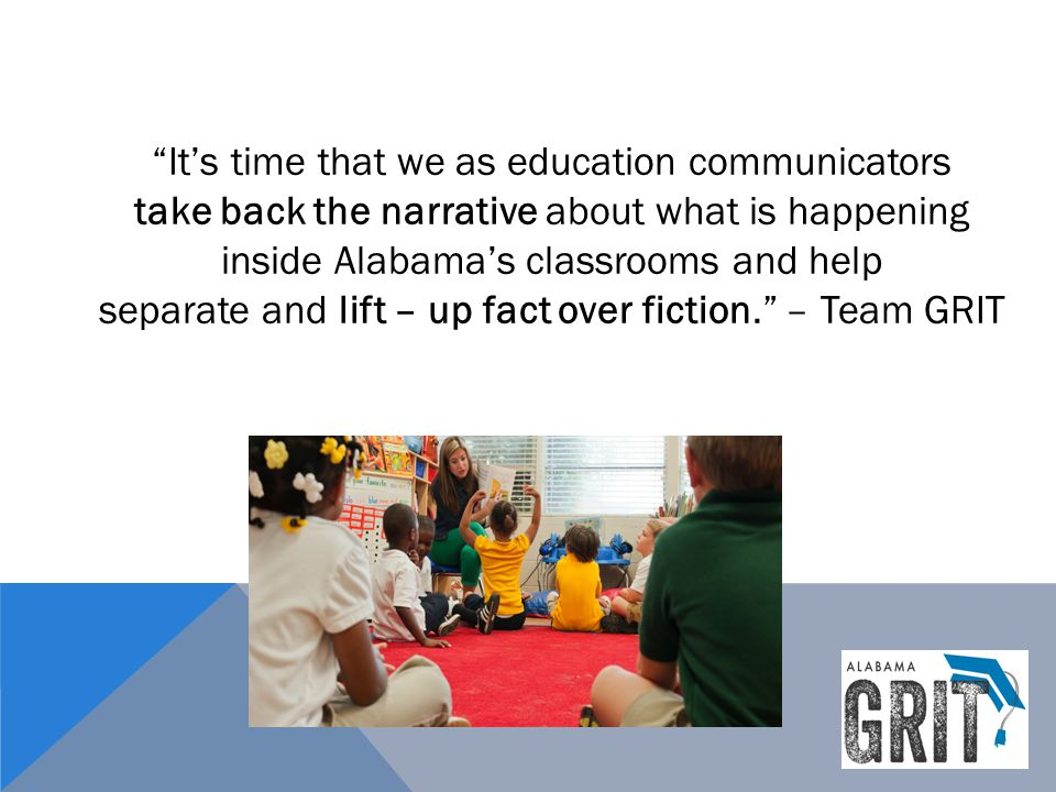 It's time that we as education communicators