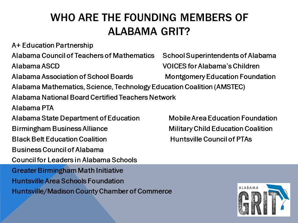 Who are the founding members of Alabama GRIT