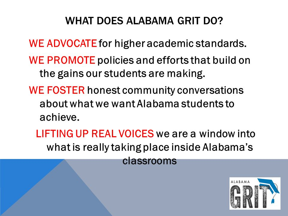 What does alabama grit do