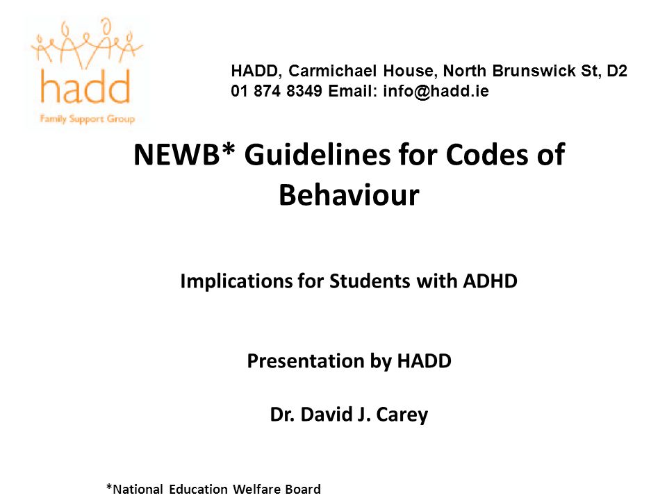 NEWB* Guidelines for Codes of Behaviour